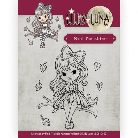 LLCS10002 ~ No.2  The Oak Tree stamp ~ Lilly Luna ~ Yvonne Creations